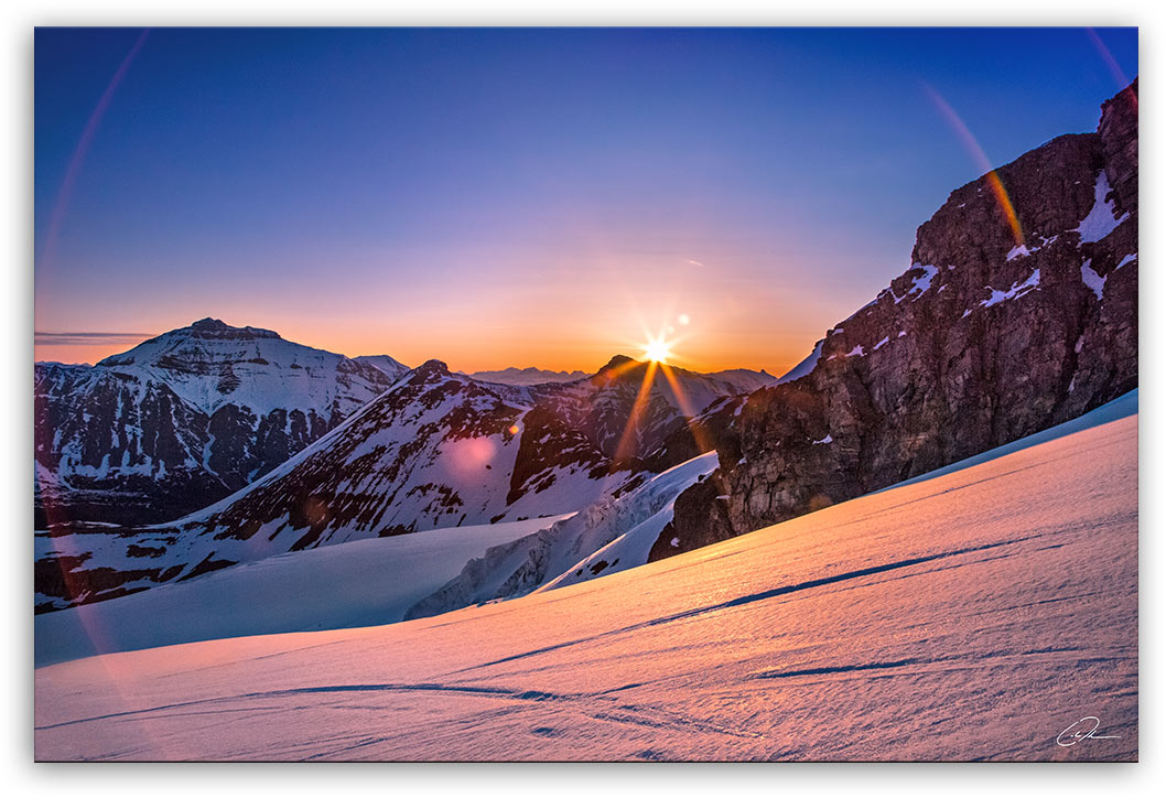 Sunrise on the Summit - Jasper & Banff - Photo Print