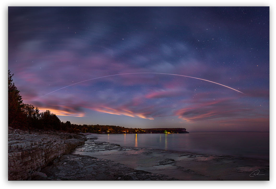 ISS Over the Bruce Peninsula - Fine Art Photo Print