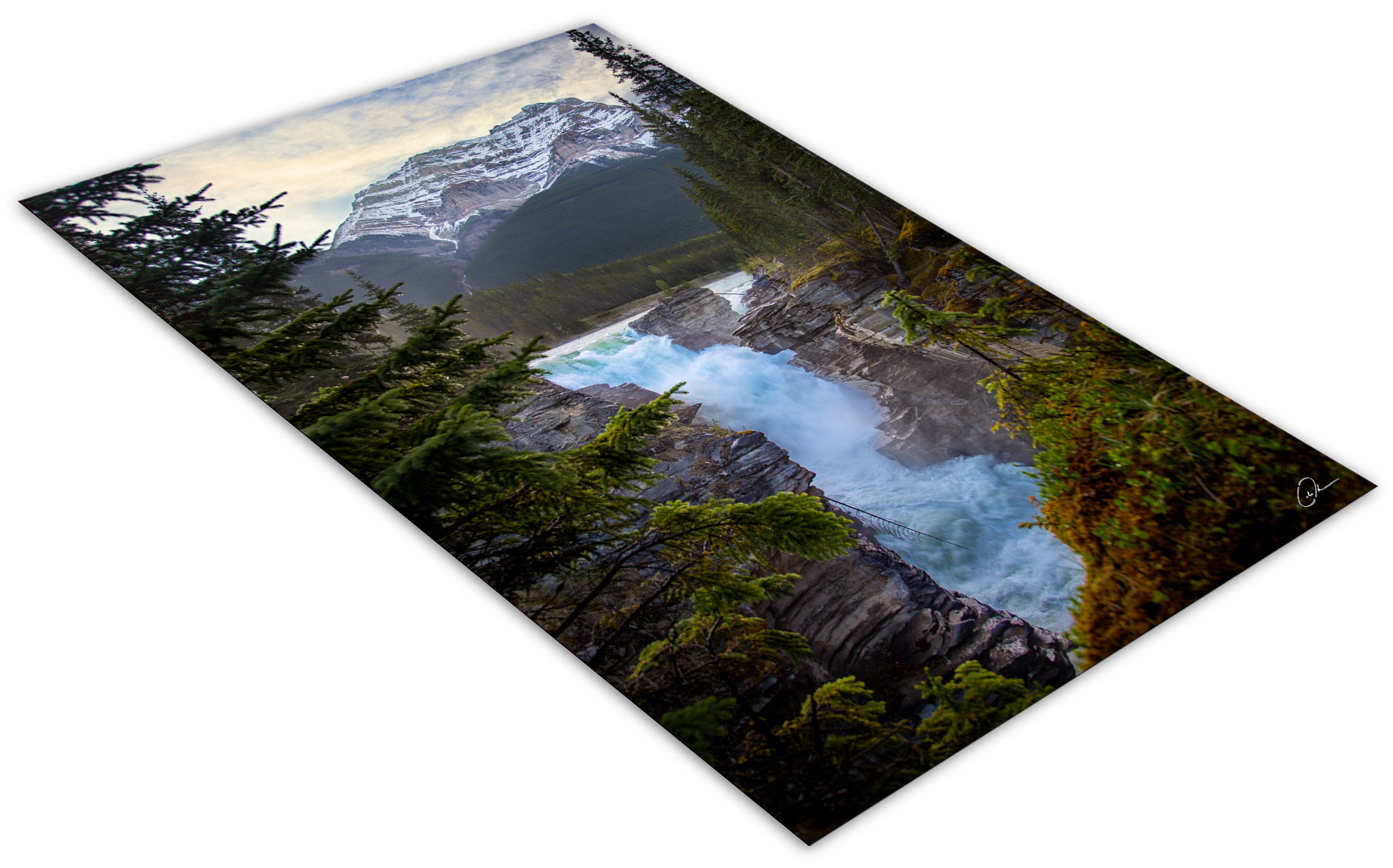 Athabasca Falls fine art photo print Jasper National Park
