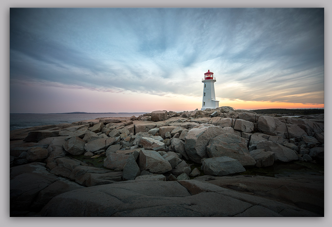 Peggy's Cove Lighthouse Sunrise